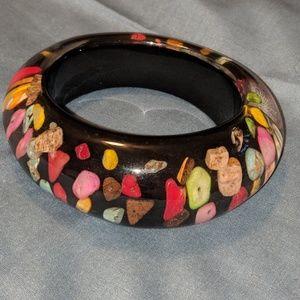1960's chunky mod Lucite bangle bracelet